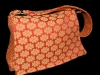 Handmade bag, purse, made in Nanaimo, BC, eclectic fabric combination