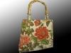 bamboo handle, handmade, handbag, floral linen, Nanaimo, BC, Pip 'n' Milly