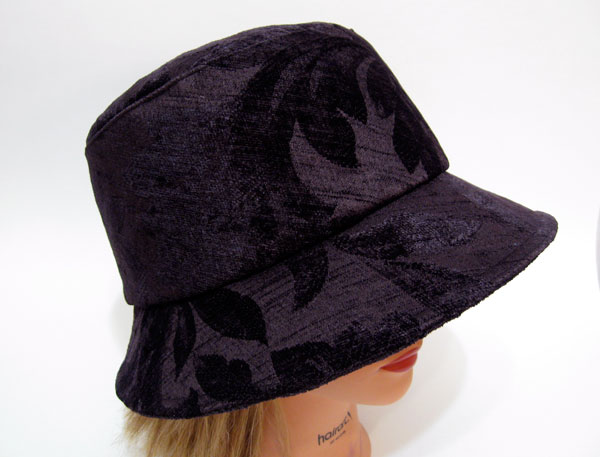 handmade hat, designed by Nicole Mallalieu, handmade by Pip 'n' Milly, Nanaimo, BC, one of a kind