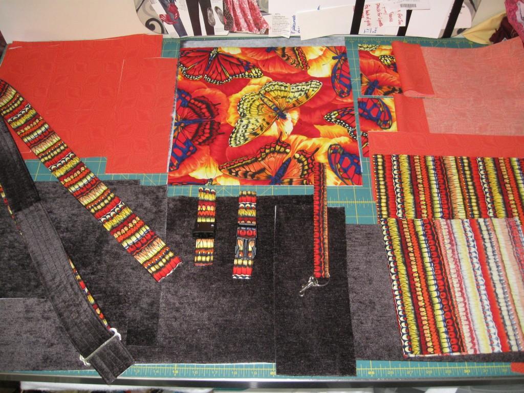 Bag pieces laid out