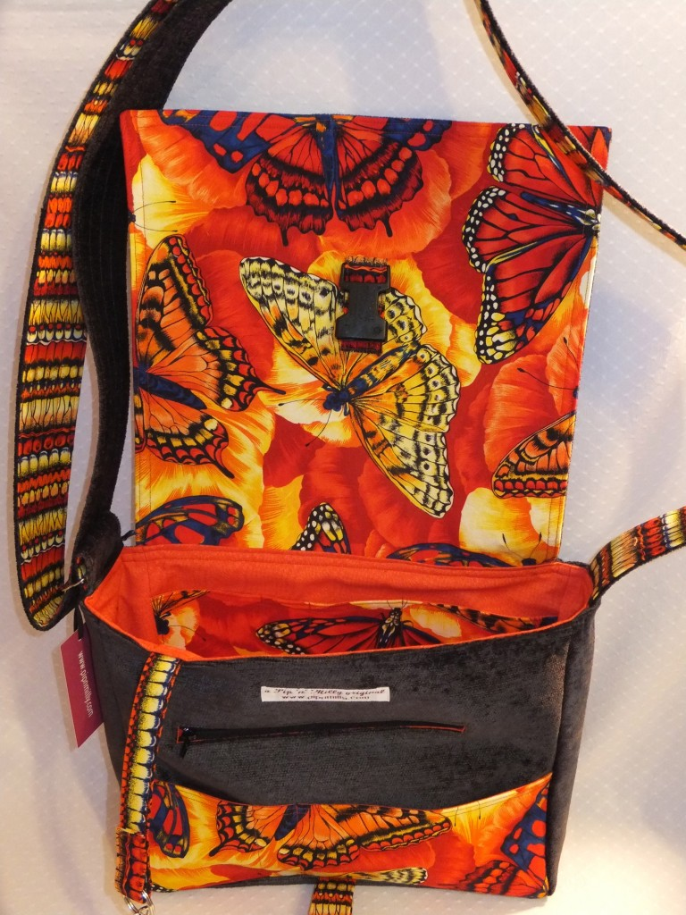 Butterfly bag - interior