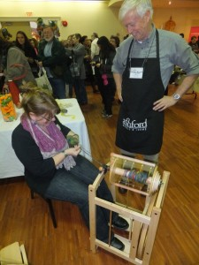 Me with Richard Ashford, spinning yarn