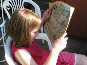 Philippa discovered the joy of Beano comics