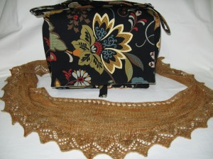 Annis shawl and coordinating messenger bag